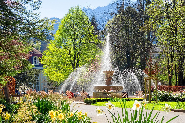 Solespringbrunnen im Kurpark Bad Reichenhall